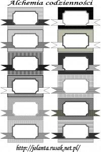 Ramki czarno-białe